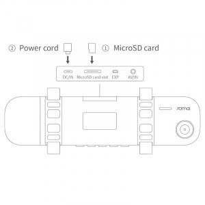 Oglinda retrovizoare smart Xiaomi 70mai, Wi-Fi, camera 1600P FHD, monitorizare parcare, Sony IMX335, EU4