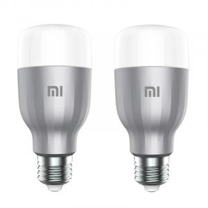 Pachet 2 becuri EU LED Xiaomi RGBW, 800 lumeni, 16mil culori, WiFi, 10W, compatibil Google, Alexa, Homekit [0]
