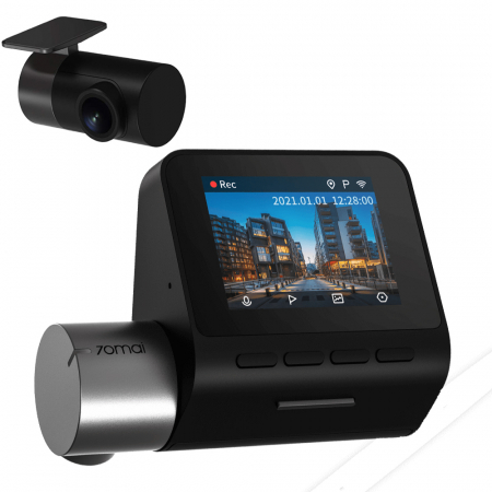Pachet camera auto smart Xiaomi 70mai DashCam Pro Plus A500S-1 plus camera marsarier RC06, 2.7K UHD, GPS integrat, FOV 140°, ADAS, versiune EU [0]