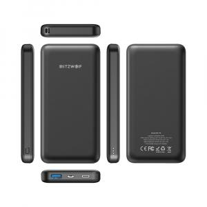 Power Bank Blitzwolf P9, 10000mAh, 18W, QC3.0, PD3.0, Type-C, USB A, Micro USB cu fast charging2