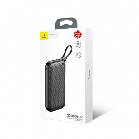 Powerbank Baseus Powerful 20000mAh Quick Charge 3.0, 2x USB, USB-C, Negru [2]