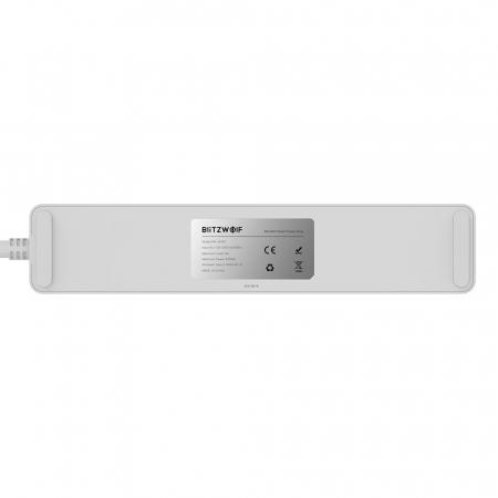 Prelungitor smart Blitzwolf SHP9 EU, WiFi 2.4Ghz, 3300W, 15A, 3 prize, dual USB 2.4A, compatibil Smart Life, Google Home, Alexa3