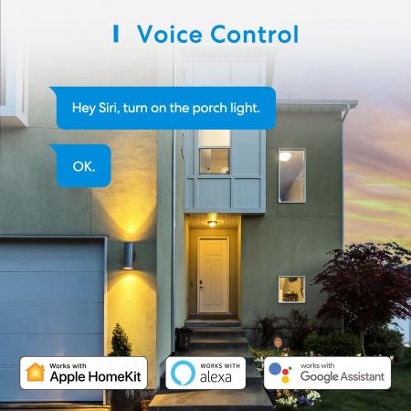 Priza dubla de exterior smart Meross IP44, Wi-Fi, 10A, compatibila Apple HomeKit, Google Home, Alexa, SmartThings, IFTTT5