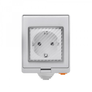 Priza inteligenta Sonoff S55, rezistenta la apa IP55, pentru exterior, control de la distanta prin wi-fi, 16A0