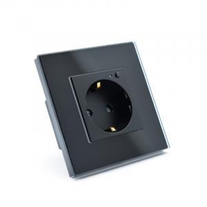 Priza inteligenta Vhub, rama din sticla, Wireless 2.4GHz, 16A, cu protectie, compatibila Google & Alexa, negru1
