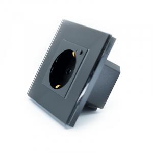 Priza inteligenta Vhub, rama din sticla, Wireless 2.4GHz, 16A, cu protectie, compatibila Google & Alexa, negru4