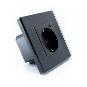Priza inteligenta Vhub, rama din sticla, Wireless 2.4GHz, 16A, cu protectie, compatibila Google & Alexa, negru5