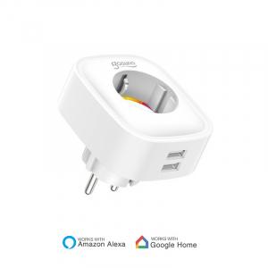 Priza smart Gosund, WiFi 2.4GHz, 2 x USB, acces de la distanta, 16A & 3680W, compatibila Smart Life, Google Home, Alexa [0]