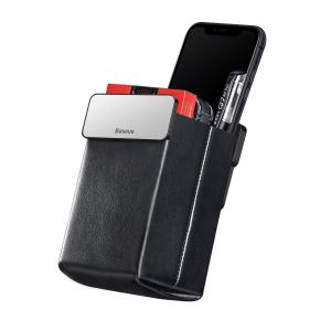 Rack auto Baseus Magic pentru depozitare obiecte, inchidere magnetica, adeziv 3M, silver0