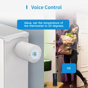 Robinet suplimentar inteligent cu termostat pentru kitul Meross, acces din aplicatie, compatibil Alexa, Google Home, IFTTT, EU2