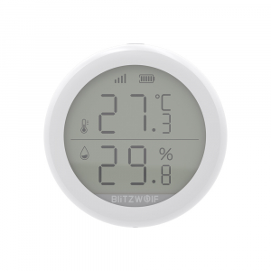 Senzor Blitzwolf masurare umiditate, temperatura in timp real cu afisaj digital, ZigBee, display LCD, ecosistem Smart Life1