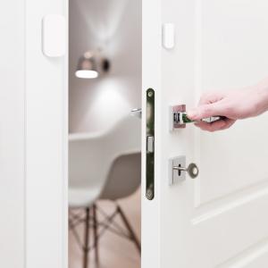 Senzor magnetic Aqara, pentru usi sau ferestre, ZigBee, versiune europeana, compatibil Homekit, MI Home EU3