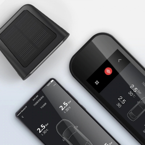 Sistem smart Xiaomi 70mai TPMS monitorizare presiune roti, 4 senzori, 500mAh, incarcare solara, bluetooth4