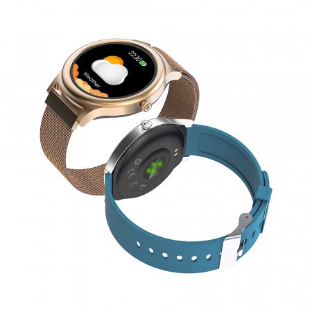 Smartwatch BlitzWolf BW-AH1, bluetooth 5.0, SPO2, waterproof IP67, 160mAh, tracking 24 moduri sport, notificari, silver2