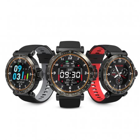 "Smartwatch BlitzWolf BW-AT1 Sport, Bluetooth 5.0, 200 mAh, IP68, ecran rotund 1.3"", Negru [3]"