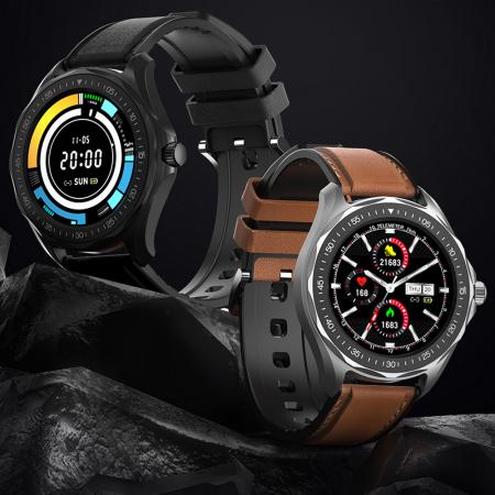 "Smartwatch BlitzWolf BW-HL3 IP68, 1.3"", bluetooth 5.0, moduri sport, monitorizare ritm cardiac, nivel oxigen din sange, Negru [2]"