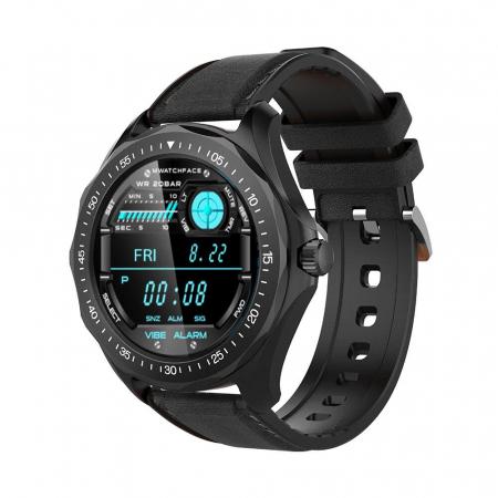 "Smartwatch BlitzWolf BW-HL3 IP68, 1.3"", bluetooth 5.0, moduri sport, monitorizare ritm cardiac, nivel oxigen din sange, Negru [1]"