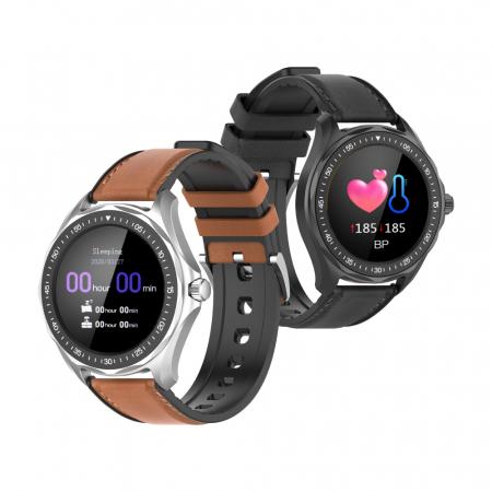 "Smartwatch BlitzWolf BW-HL3 IP68, 1.3"", bluetooth 5.0, moduri sport, monitorizare ritm cardiac, nivel oxigen din sange, Negru [0]"
