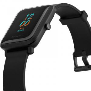 Smartwatch Amazfit BIP S 2020 resigilat, waterproof, 40 zile autonomie, GPS Sony, Biotracker PPG, bluetooth 5.0, negru [2]