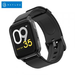 Smartwatch Xiaomi Haylou LS01, IP68 waterproof, 9 moduri sport, bluetooth, notificari, 14 zile autonomie, negru0