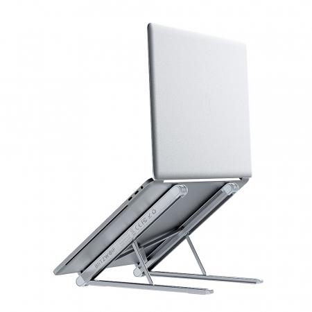 Stand pentru laptop pliabil Blitzwolf BW-ELS1, 5 unghiuri ajustabile, suporta pana la 20kg, paduri anti-alunecare [2]
