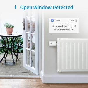 Starter kit Meross, robinet smart pentru calorifer cu termostat, hub inclus, compatibil  Alexa, Google Home, IFTTT, EU1