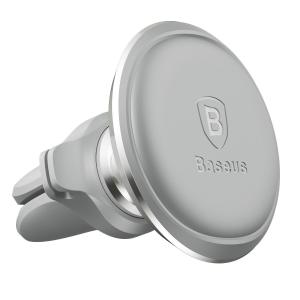 Suport auto magnetic Baseus silver, prindere la ventilatie, rotatie 360 grade, organizator cabluri3