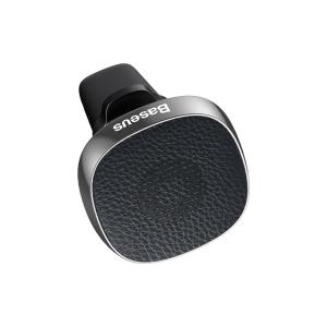 Suport auto magnetic Baseus Privity PRO pentru telefon, din aliaj aluminiu piele si silicon, 4 magneti, negru2