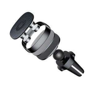 Suport auto magnetic Baseus Privity PRO pentru telefon, din aliaj aluminiu piele si silicon, 4 magneti, negru4