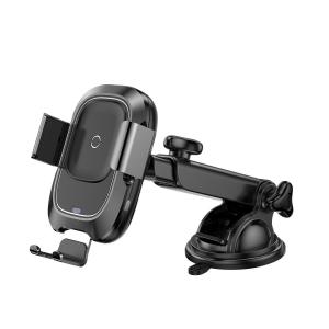 Suport telefoane si incarcator auto wireless Baseus cu ventuza, QI, rotatie 360°, 10W, compatibil Android & Apple0