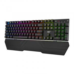 Tastatura mecanica pentru gaming Havit Rainbow KB432L cu stand detasabil, lumina RGB, programabila2