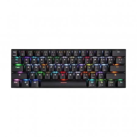 Tastatura mecanica wireless gaming Motospeed CK62 cu Bluetooth, dual mode, iluminare RGB, Type-C2