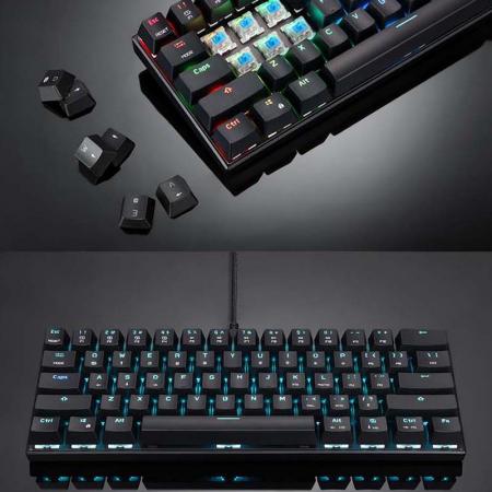 Tastatura mecanica wireless gaming Motospeed CK62 cu Bluetooth, dual mode, iluminare RGB, Type-C3
