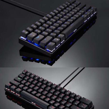 Tastatura mecanica wireless gaming Motospeed CK62 cu Bluetooth, dual mode, iluminare RGB, Type-C4