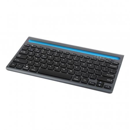 Tastatura wireless Delux K2201V dual mode Bluetooth/Wi-Fi, 180mAh, Negru [1]