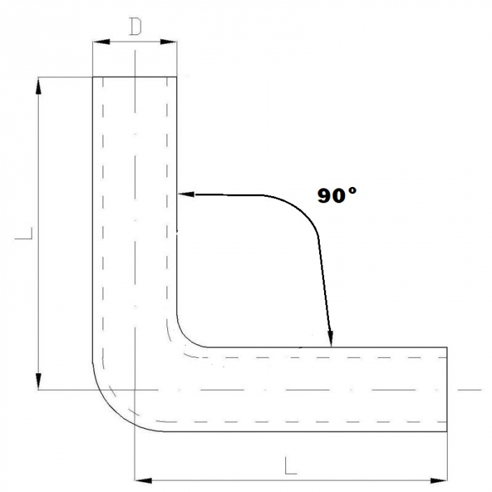 COT SILICONIC 90° , 63MM [1]
