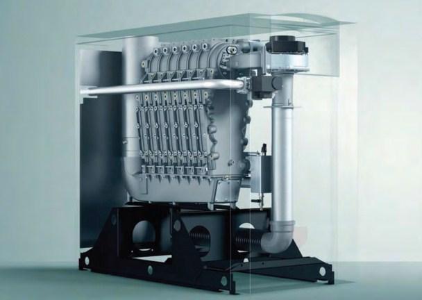 Cazan de pardoseala in condensare ecoCRAFT exclusiv VKK 1606/3-E-HL, 160 kW, Incalzire 1