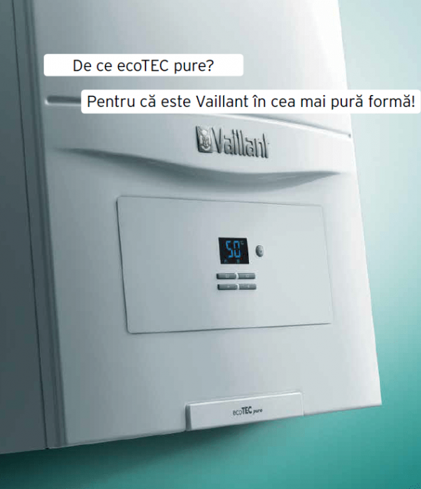 VAILLANT ecoTEC pure VUW 286/7-2, 26,1 kW centrala termica in condensatie - Incalzire + A.C.M. 2