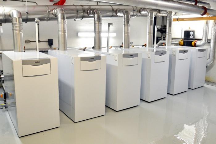 Cazan de pardoseala in condensare ecoCRAFT exclusiv VKK 1606/3-E-HL, 160 kW, Incalzire 2