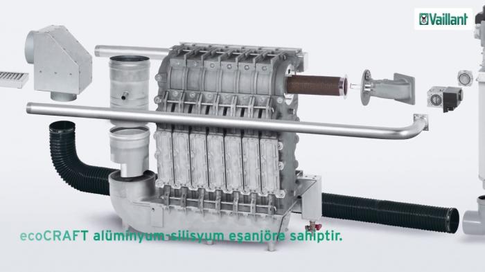 Cazan de pardoseala in condensare ecoCRAFT exclusiv VKK 1606/3-E-HL, 160 kW, Incalzire 4