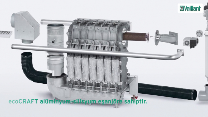Cazan de pardoseala in condensare ecoCRAFT exclusiv VKK 2806/3-E-HL, 280 kW, Incalzire 4
