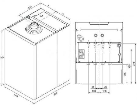 Centrala termica in condensatie, 27 kw, cu boiler incorporat 20 l, Vaillant ecoTEC plus VUI 32CS/1-5 [4]