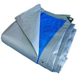 Prelata cu inele 10 x 15 m - 180 g/mp - argintiu-albastru [0]