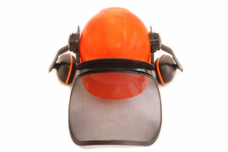 Casca cu viziera protectie din plasa si antifoane [2]