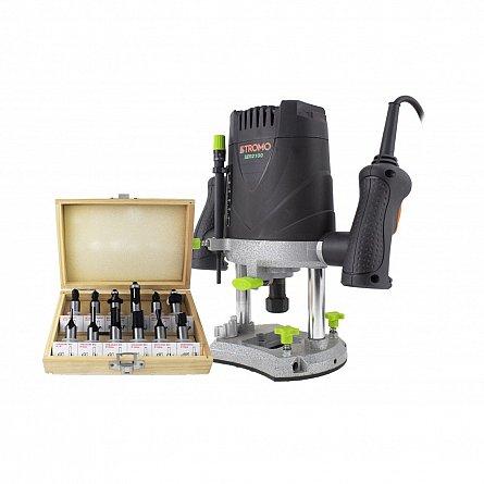 Freza lemn STROMO SER2100, 2100 W, 16000-30000 RPM, 50 mm + Set 12 freze pentru lemn [0]