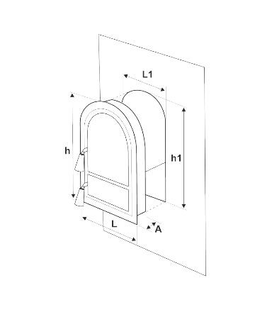 Usa Soba Semineu cu Geam Cerbi Ornamente Argintii 555 mm x 345 mm [1]