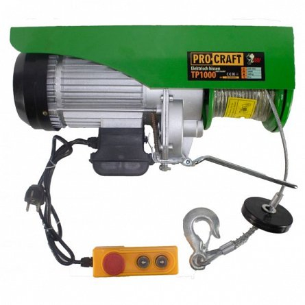 Troliu electric palan Procraft TP1000, 1600W, cu kit montare Greutate 1000kg [0]