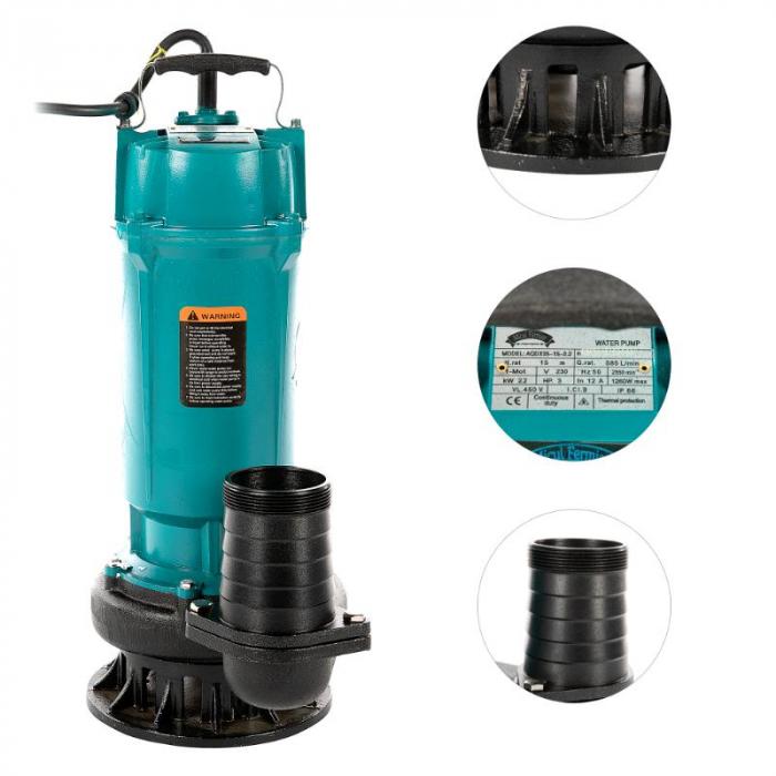 Pompa apa submersibila QDX35-15M 2.2KW 3 toli [1]