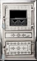 Usa Soba Monobloc cu Geam Motive Romanesti Nichelata 475x295 mm [0]