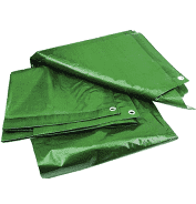 Prelata cu inele 10 x 12 m - 120 g/mp- verde [0]